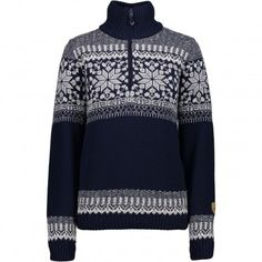 CMP Knitted Pullover trui dames navy