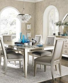 Ailey Dining Room Furniture, 7-Piece Set (Dining Table and 6 Side Chairs)