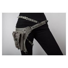 Shark Bite Holster and Hip Bag in Black via Polyvore featuring bags and handbags
