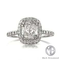 Markbroumand.com #3300-1  http://www.markbroumand.com/2.20ct-cushion-cut-diamond-engagement-anniverary-ring-3300-1d1377568/