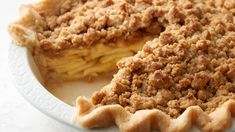 The difference between classic apple pie and a Dutch apple pie recipe is all in the delicious crumb topping. Dutch apple pie topping is made with butter, Gold Medal™ flour, brown sugar and granulated sugar, and you'll know when it's ready to come out of the oven when the crumb toppings are a deep golden brown. Instead of a second pie crust, enjoy a generous blanket of sweet streusel crumbs–sprinkled over a tender spiced apple filling.