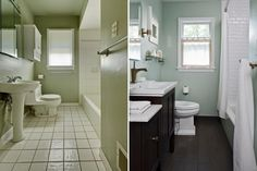 Bathroom Simple Renovation For Small Bathroom Before And After Extraordinary Before And After Small Bathrooms Decorating Design