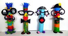 Fantasy figures & New Year garland - carnival crafts - my grandchildren and me Kids Crafts, Crafts For Teens, Diy And Crafts, Arts And Crafts, Circus Crafts, Carnival Crafts, Diy Butterfly Costume, Box Creative, Fantasy Figures
