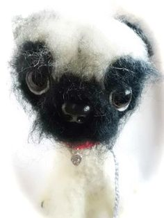 A very special commission indeed. A fluffy  pug. Yes I know they're not normally fluffy but...