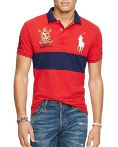 POLO RALPH LAUREN Color Block Regular Fit Polo Shirt. #poloralphlauren #cloth #shirt