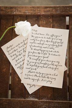 Vows displayed...love this. Photography by Aislinn Kate Photography / aislinnkate.com, Floral   Event Design by Hemstitch Vintage Rentals / hemstitchvintage.com/