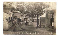 LAKE ORION MICHIGAN PARK ISLAND AMUSEMENT MIDWAY rppc Real Photo Postcard