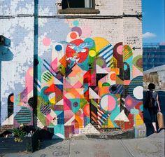 street art by Maya Hayuk //easy to apply on a notebook :))//