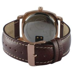 Peugeot LinQ Bluetooth Smart Leather Strap Watch - Rose/Brown, Men's