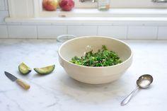 the Greenest Salad: romaine, lettuce, avocado, broccoli, pistachios - tarragon-balsamic vinaigrette & feta. via 101 cookbooks