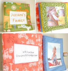 Fabric family photo books for babies