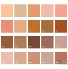 Trendy Ideas For Skin Color Palette Pantone Colour Schemes, Color Combos, Skin Color Palette, Colors For Skin Tone, Color Swatches, Color Stories, Nude Color, Pantone Color, Ornaments Design