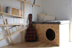 Faire un meuble pour cacher la litière de son chat                                                                                                                                                     Plus
