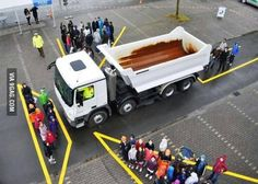 Next time you try to evade a truck - blind spot...