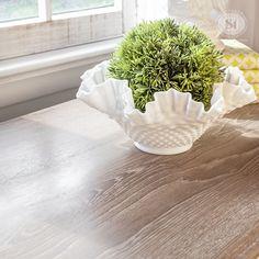 Limed Wood Desk w Annie Sloan White Wax 1