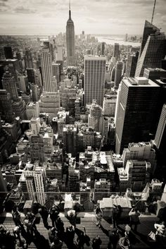 NYC. Manhattan. The top of the top of the rock.