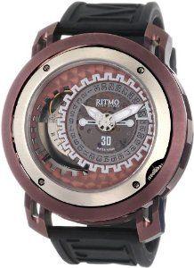 Ritmo Mundo Men's 202/2 Brown Persepolis Dual-Time Exhibition Automatic Watch