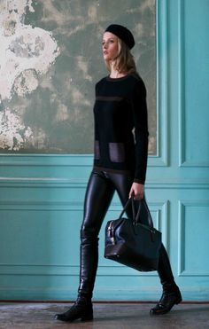 Isoude AW 13 Cashmere and Leather