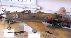 Soviet P-39Q Airacobra on display at the Aviation Museum of Central Finland. The airplane was shot down by Finnish forces during the Second World War, and repainted in the original paint scheme by the museum.