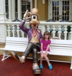 Sit on the bench with Goofy in Magic Kingdom and he will start to talk every once and a while.