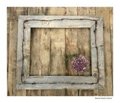 Rustic Decor,16x20 Barn Wood Frame & Western Barbed Wire, Weathered Old Wood