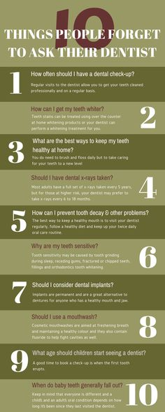 You need to ask your dentist various questions before a dental treatment. Look at this info-graphic or know the 10 important things about in Oral Health, Dental Health, Health Tips, Dental Check Up, Stained Teeth, Best Dentist, Teeth Care, Dentists, White Teeth
