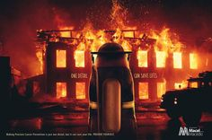 """Print campaign created by Bravo, Brazil for Doctor Macel Macedo: """"One detail can save lives."""""""