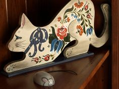 Folk Art Cat and Mouse by muppet8, via Flickr