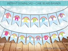 Care bears birthday banner