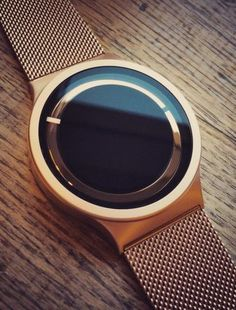 Check this out on leManoosh.com: #Copper #Graphic design #Minimalist #User Interface #Watch #Ziiro