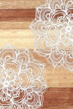 White doodles on blonde wood - neutral / nude colors