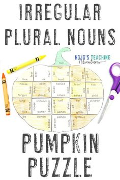 Take at look at these IRREGULAR PLURAL NOUNS pumpkin literacy activities. They are great for the fall or autumn months of September, October, or November. They also work well for review during Halloween or Thanksgiving. They're a great alternative to Halloween activities. Grab your set today for your elementary classroom or homeschool kids! Basic English language arts review in centers or stations is easy! #Elementary #FallLiteracy #PumpkinActivities School Age Activities, Grammar Activities, Grammar Lessons, Teaching Activities, Halloween Activities, Teaching Ideas, English Language, Language Arts, English Grammar