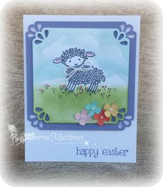 Easter Cards. Easter Lamb Stamp Set and Curvy Corner Trio Punch from Stampin' Up!