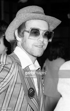 Elton John attends After Dark Ruby Awards on March 17, 1975 at the Waldorf Astoria Hotel in New York City