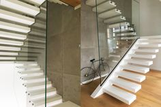 Staircase design, production and installation - Siller Stairs Glass Stairs, Floating Stairs, Foyers, Cantilever Stairs, Corian, Staircase Design, Animal Design, Design Process, Stairways