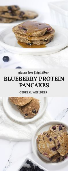 These blueberry protein pancakes have collagen peptides, ground flax seed, walnuts, and more for amazing benefits! These pancakes are a delicious and healthy gluten free breakfast recipe idea to eat flax seed recipes Gluten Free Recipes For Breakfast, Healthy Breakfast Recipes, Snack Recipes, Free Breakfast, Flax Seed Recipes Breakfast, Health Recipes, Eat Healthy, Breakfast Ideas, Healthy Living