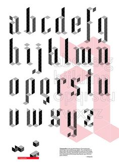Interesting image (poster?) by Cristian Gramada. 3D type that looks very much like Blackletter.