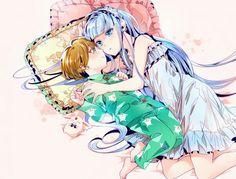 Pajama time Ascot and Umi