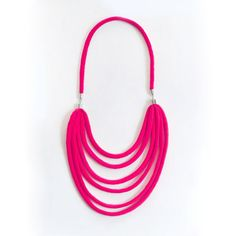 Spaghetti Necklace Hot Pink jewelry, hot pink, necklaces. Use t shirt strips and jewelry components