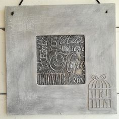 Pewter Embossing using texture plate