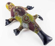 Critters by Kym - Handmade Exchange | Handmade Australian Art | Independent Australian Artists Indigenous Print Platypus