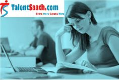 Talentsaath: A hub for online exam preparation, online aptitude tests for competitive examination, entrance examination and campus interview. Find out how much you score before you appear for your next interview and written test. More information call us at +911244113661.