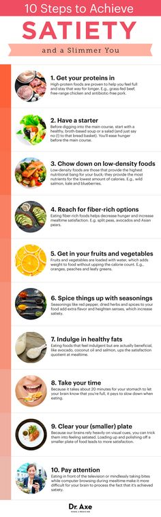 Guide to satiety - Dr. Axe http://www.draxe.com #health