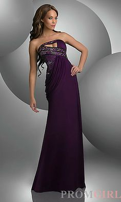 Unique Strapless Shimmer Prom Dress at PromGirl.com
