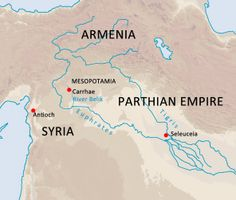 Roman–Persian Wars.The Battle of Carrhae was fought in 53 BC between the Parthian Empire and the Roman Republic near the town of Carrhae. The Parthian General Surena decisively defeated a superior Roman invasion force under the command of Marcus Licinius Crassus. It is commonly seen as one of the earliest and most important battles between the Roman and Parthian empires and one of the most crushing defeats in Roman history.