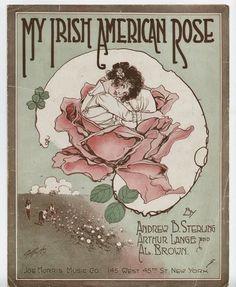My Irish American Rose vintage song sheet graphics inkspired musings: the Emerald Isle and Irish Blessings