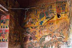 Church painting. Lalibella. Ethiopia
