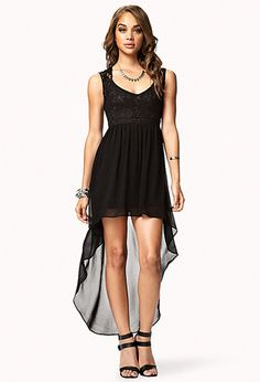 Lacy back and a high low skirt. I don't really know how this would look on me but I hope I find out.