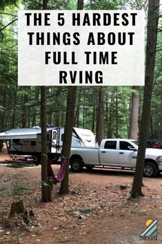 The 5 Hardest Things About Full Time RVing Is full RV living a dream? On some days that is. But it can also be very hard and the highs and lows are a bit more extreme. These are the 5 hardest things we've experienced with full-time RVing. Travel Trailer Living, Rv Travel, Travel Trailers, Airstream Trailers, Time Travel, Travel Tips, Camper Life, Rv Life, Camping Car