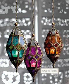 Decorative Rocks Ideas : Description Moroccan style hanging glass lantern – amber purple green hippy boho candle in Home, Furniture & DIY, Home Decor, Candle & Tea Light Holders Moroccan Design, Moroccan Decor, Moroccan Style, Morrocan Theme, Moroccan Garden, Moroccan Mirror, Indian Style, Moroccan Lanterns, Luminaire Design